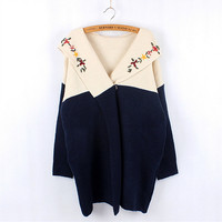 Flower embroidery knitted sweaters  T48129