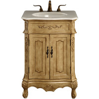"Danville 24""x21""x35"" 2-Door Vanity Cabinet, Antique Beige"