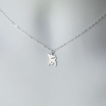 Silver Deer Necklace - Silver Deer Necklace - Sterling Silver Necklace - Animal Necklace - Tiny Necklace