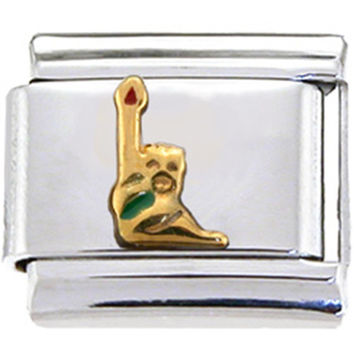 Gold STATUE OF LIBERTY Italian Charm