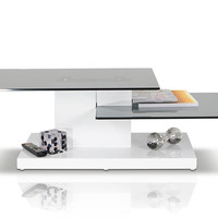 Modrest Dove - Contemporary White High Gloss Coffee Table