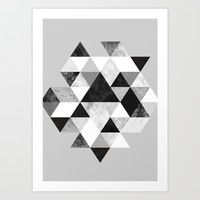 Graphic 202 Black and White Art Print by Mareike Böhmer Graphics