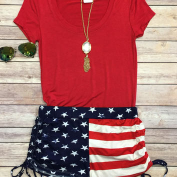 Flag Tie Shorts