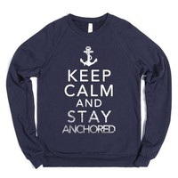 Stay Anchored Crewneck-Unisex Navy Sweatshirt