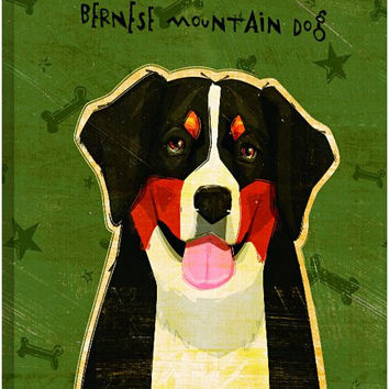Tree-Free Greetings 84032 Eco Art Wall Plaque, 11.25 by 11.25 by 0.5-Inch, Bernese Mountain Dog