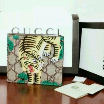 NEW!@@! GUCCI MEN'S/WOMEN BENGAL TIGER Bifold WALLET