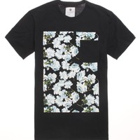 On The Byas Gene Floral Crew T-Shirt - Mens Tee - Black -