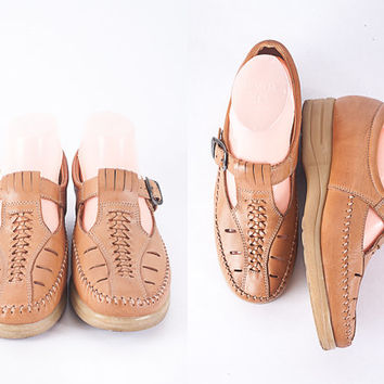 1970s Dr Scholls Shoes, Vintage 70s Shoes, Platform Shoes, Chunky Heel, T Strap Shoes, Mary Janes, Brown Leather Shoes, Dr Scholls Sandals