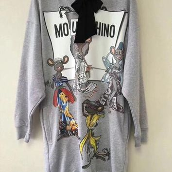 Moschino RAT-PORTER Hooded Sweater Dress