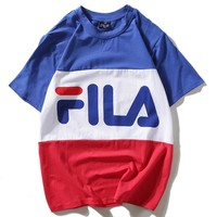 Fila Women Men Fashion Short Sleeve Shirt Top Tee