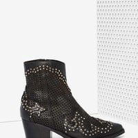 Jeffrey Campbell Paxton Perforated Leather Boots