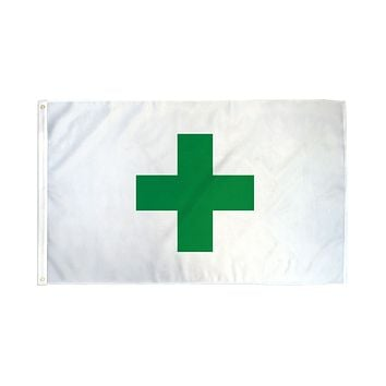 Green Cross Cannabis Flag 3x5 Feet