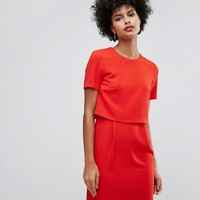 Warehouse Double Layer Shift Dress at asos.com