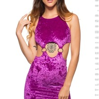 Twiggy Dress in Amethyst