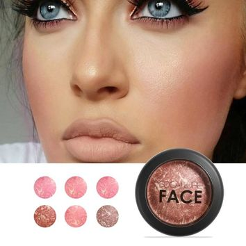 FOCALLURE  Makeup Cheek Blush Powder Face Bronzer Blushes Powder Cosmetic Natural Base Makeup Highlighter Face Contour Blush