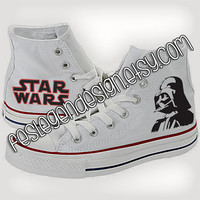 Darth Vader 'Star Wars' Custom Converse / Painted Shoes