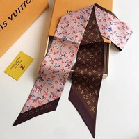 Louis Vuitton LV Women Scarf Shawl Silk Scarf-4