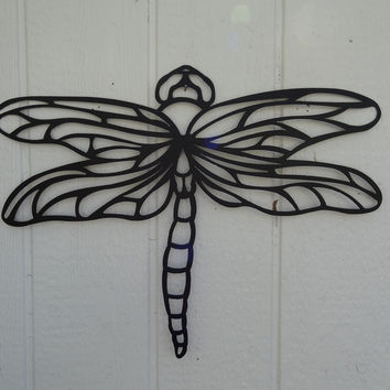 "Dragonfly 12"" Metal Wall Art Decor"