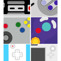 Nintendo Controllers Original Poster - Abstract - MANY SIZES