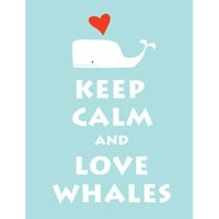 Keep Calm and Love Whale Large 13X19 Baby by simplygiftsonline
