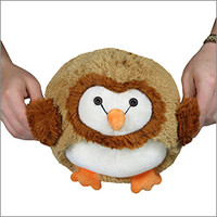 Mini Squishable Barn Owl: An Adorable Fuzzy Plush to Snurfle and Squeeze!