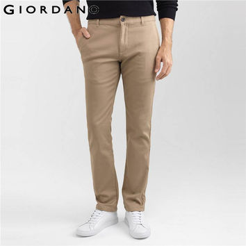 Men Pants Tapered Quality Trousers Solid Khakis Casual Fashion Fleece Lined clothes