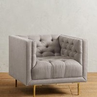 Belgian Linen Mina Armchair by Anthropologie