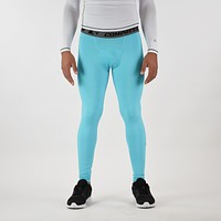 Hue Light Blue Solid Tights for men