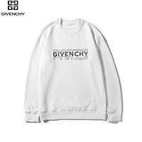 Givenchy 2019 new cotton pullover round neck long-sleeved sweater white