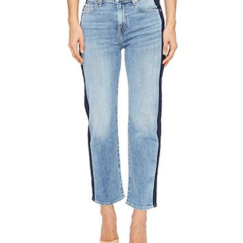 7 For All Mankind Kiki Jeans w/ Shadow Side Seam in Gold Coast Waves