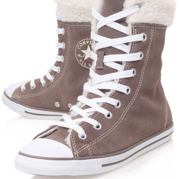 Converse Taupe Chuck Taylor Dainty Shearling Hi Top Trainers | Trainers by Converse | Liberty.co.uk