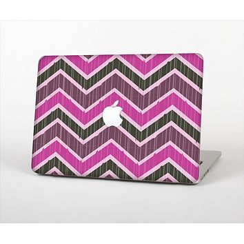 The Scratched Vintage Chevron Surface Skin Set for the Apple MacBook Air 13""