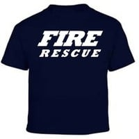 Fire Rescue Navy Blue Duty Kids T Shirt