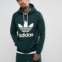 adidas Originals Trefoil Hoodie In Green BR4183 at asos.com
