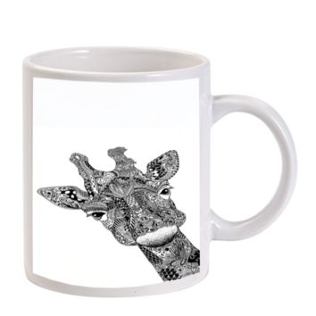 Gift Mugs | Giraffe Aztec Hamsa Tattoo Ceramic Coffee Mugs