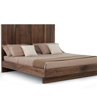 Wooden double bed NATURA 5 Natura Collection by Riva 1920 | design Maurizio Riva, Davide Riva