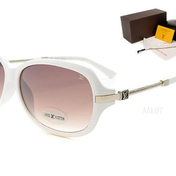 LV Mirrored Flat Lenses Street Fashion Metal Frame Women Sunglasses [2974244704]