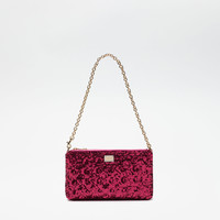 Leather Accessories for women | Dolce&Gabbana - PAILLETTES MINI BAG