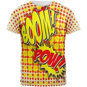 Halloween Boom Pow Vintage Comic Book Costume All Over Mens T Shirt