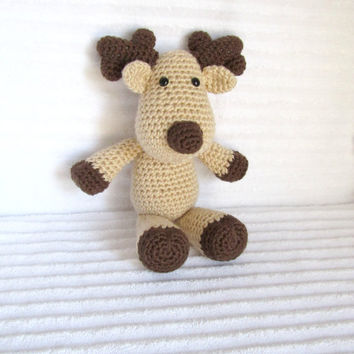 Crochet Animal, Crochet Deer, Crochet Reindeer, Stuffed Animal, Deer Plush, Camo, Camo Nursery, Nursery Decor, Hunting Nursery Decor