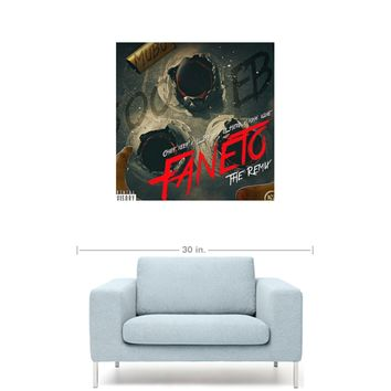 "Chief Keef Ft. King Louie, Lil Herb & Lil Bibby - Faneto ( Remix ) 20"" x 20""  Premium Canvas Gallery Wrap Home Wall Art Print"