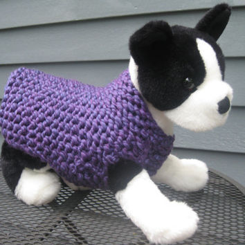 XS Dog Sweater  Violet by SimpleKnitShop on Etsy