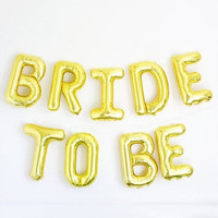 9pcs/lot BRIDE TO BE Gold silver foil ballon bachelorette party wedding decoration wedding event party supplies