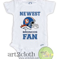 Denver BRONCOS FAN Baby Onesuit | art2cloth