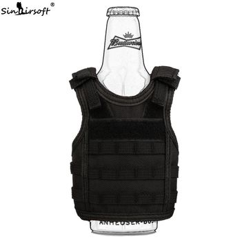 SINAIRSOFT Tactical Premium Beer Military Molle Mini Miniature Vests Beverage Cooler for 12oz or 16oz beverages cans AND bottles