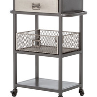 Four Hands Small Industrial Bar Cart - Black