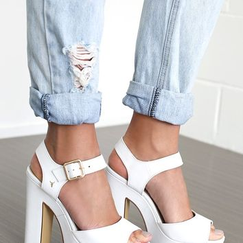 Windsor Smith Macie Heels White