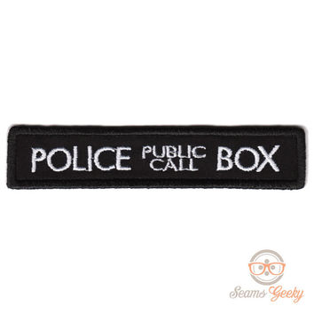 "Doctor Who TARDIS ""Police Box"" Inspired - Iron-on Patch"