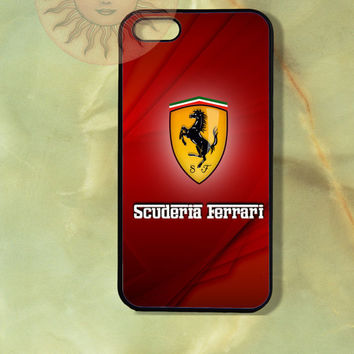Ferrari Scuderia-iPhone 5 case, iphone 4s case, iphone 4 case, Samsung GS3 case - Silicone Rubber or Hard Plastic Case, Phone cover