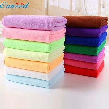Ouneed Happy home Colorful 70x140cm Absorbent Microfiber Drying Bath Beach Towel Washcloth Shower
